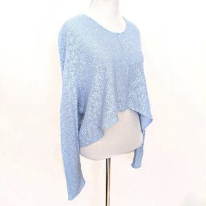 Foreign Exchange Light Blue Cropped Sweater